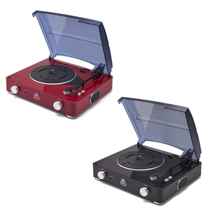 GPO Retro Stylo Turntable (3 Speed) with Built In Speakers