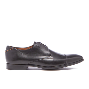 PS by Paul Smith Men's Robin Leather Toe Cap Derby Shoes - Black