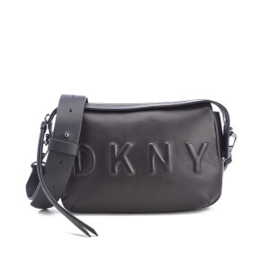 DKNY Women's Debossed Logo Cross Body Bag - Black