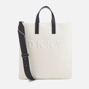 DKNY Women's Debossed Logo Tote Bag - Cream