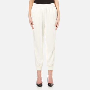 DKNY Women's Joggers with Ribbed Cuffs - Gesso