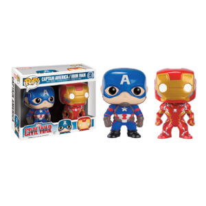 Captain America: Civil War Iron Man & Captain America 2-Pack Pop! Vinyl Figure