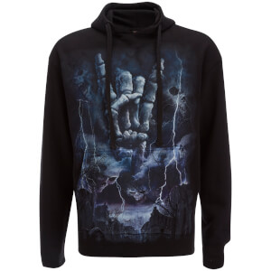 Sweat à Capuche Homme Spiral Rock Eternal - Noir