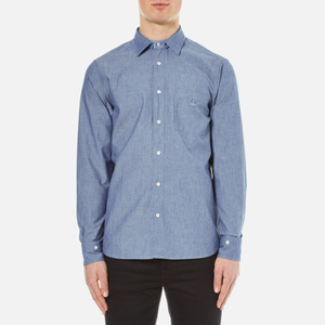 Vivienne Westwood Anglomania Men's Detachable Details Shirt - Blue Chambray
