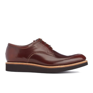 Grenson Men's Lennie High Shine Derby Shoes - Honey