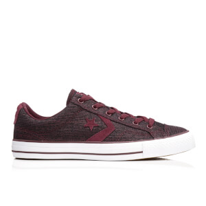 Converse Men's CONS Star Player Ox Trainers - Deep Bordeaux/Rhubarb/White