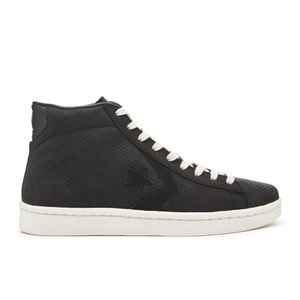 Converse Men's CONS Pro Leather '76 Mid Top Trainers - Black/Egret