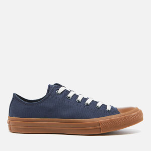 Converse Men's Chuck Taylor All Star II Ox Trainers - Obsidian/Gum