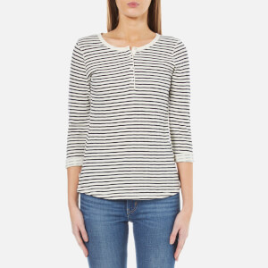 Maison Scotch Women's Home Alone Bonded Grandad Top with 3/4 Sleeve - Combo B