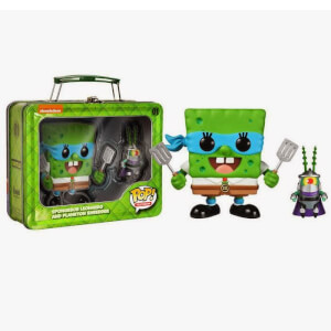 Nickelodeon Funko Spongebob Leonardo And Plankton Shredder Pop! Vinyl
