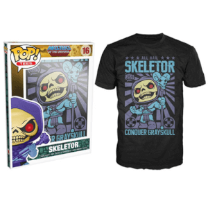 Funko Master Of The Universe Pop! Tee All Hail Skeletor Conquer Grayskull Pop! Tees