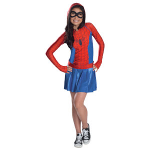 Marvel Girls' Spidergirl Hoody Dress