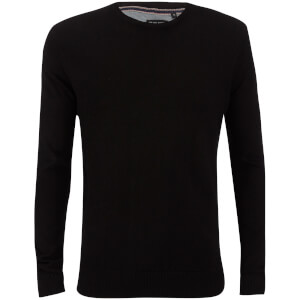 Brave Soul Men's Parse Supersoft Crew Neck Jumper - Black
