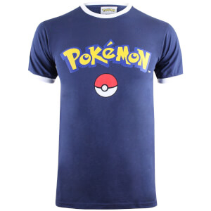 Pokemon Men's Logo T-Shirt - Navy/White