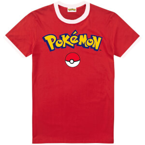 Pokémon Logo Heren T-Shirt - Rood/Wit