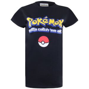 Pokemon Men's Gotta Catch Em All Logo T-Shirt - Black