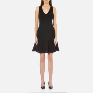 MICHAEL MICHAEL KORS Women's Lace Fit Flare Dress - Black