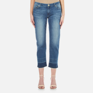 MICHAEL MICHAEL KORS Women's Released Hem Straight Leg Jeans - Vintage Blue Wash