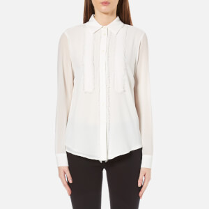 MICHAEL MICHAEL KORS Women's Fray Detail Shirt - White