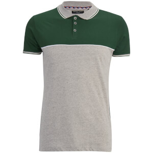 Polo Homme Homme Lorenzo Brave Soul - Gris Clair/Vert