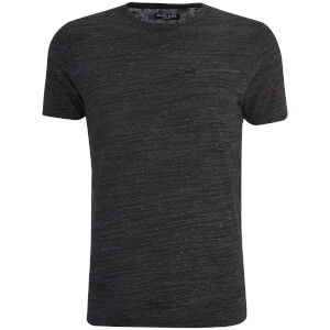 Brave Soul Men's Gustav Zip Pocket T-Shirt - Charcoal/Light Grey