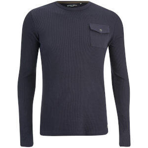 Brave Soul Men's Radar Long Sleeve Top - Dark Navy