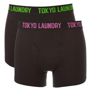 Lot de 2 Boxers Pellipar Tokyo Laundry - Noir / Rose / Vert