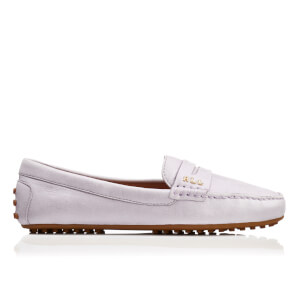 Lauren Ralph Lauren Women's Belen Soft Leather RL Loafers - Chalk Grey