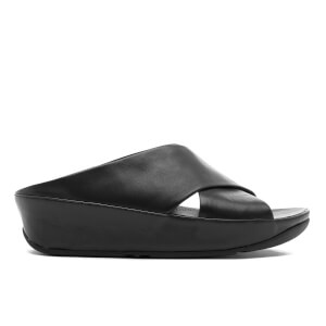FitFlop Women's Kys Leather Slide Sandals - All Black