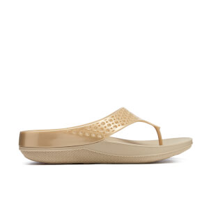 FitFlop Women's Ringer Welljelly Flip-Flops - Gold
