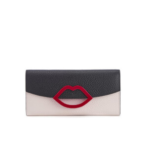 Lulu Guinness Women's Trisha Grainy Leather Purse - Black Porcelain