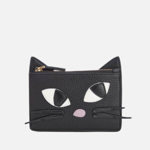 Lulu Guinness Women's Kooky Cat Lottie Pouch - Black