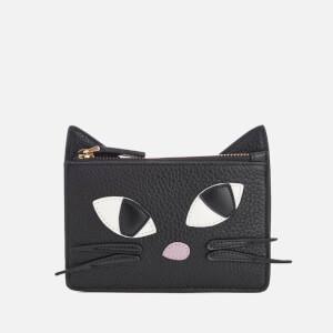Lulu Guinness Women's Kooky Cat Lottie Pouch - Black
