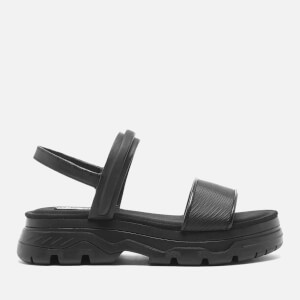 DKNY Women's Addie Multi Strap Flat Lug Sandals - Black