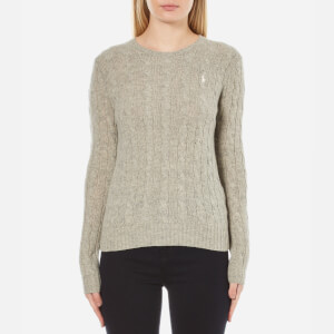 Polo Ralph Lauren Women's Julianna Crew Neck Jumper Cashmere Blend - Light Vintage Heather