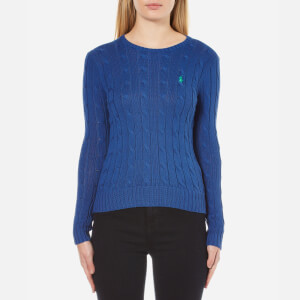 Polo Ralph Lauren Women's Julianna Crew Neck Jumper - Big Sur Blue