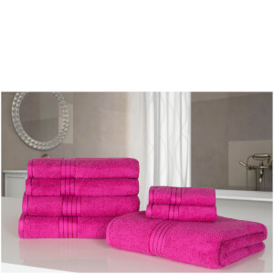 Highams 100% Egyptian Cotton 7 Piece Towel Bale (500gsm) - Fuchsia