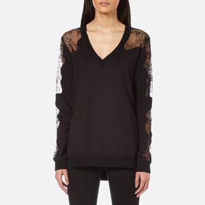 McQ Alexander McQueen Women's Lace Trip Sweatshirt - Black