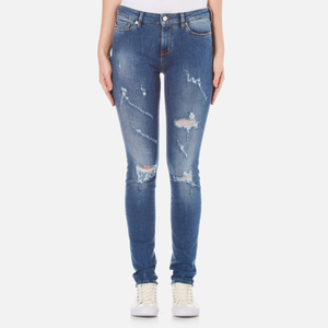 Love Moschino Women's 5 Pocket Skinny Fit Jeans - Denim