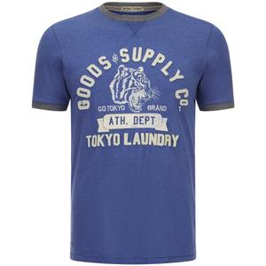 Tokyo Laundry Men's Tiger Lake T-Shirt - Cornflower Blue Marl