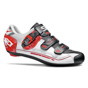 Sidi Genius 7 Road Shoes - White/Black/Red