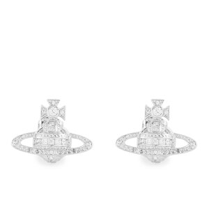 Vivienne Westwood Women's Andrea Bas Relief Stud Earrings - White Cubic Rhodium