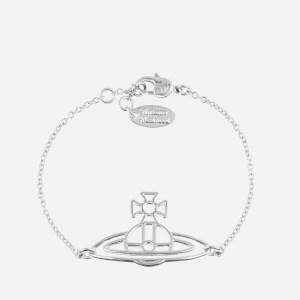 Vivienne Westwood Women's Thin Lines Flat Orb Bracelet - Rhodium