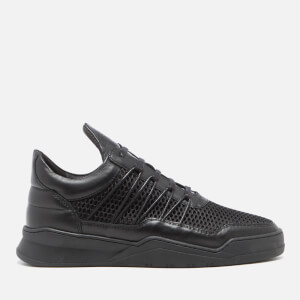 Filling Pieces Men's Ghost Mesh Low Top Trainers - Black
