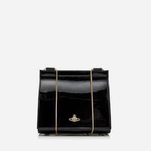 Vivienne Westwood Women's Margate Chain Fold Over Rucksack and Shoulder Bag - Black