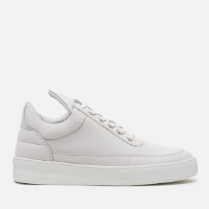 Filling Pieces Women's Plain Matte Nubuck Low Top Trainers - White