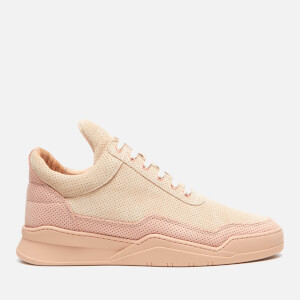 Filling Pieces Men's Ghost Perforated Suede Low Top Trainers - Pink