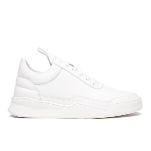 Filling Pieces Men's Ghost Leather Low Top Trainers - White