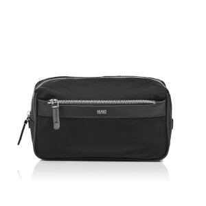 HUGO Men's Digital Nylon Wash Bag - Black