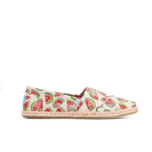 TOMS Women's Seasonal Classic Watermelon Slip-On Pumps - Natural/Pink Watermelon